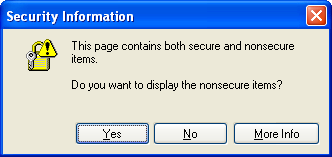 This page contains both secure and nonsecure items